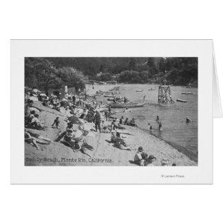 Cartes Un jour typique à la plage sablonneuse Monte Rio,