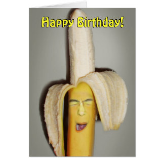 Cartes Un mal de tête de division de banane