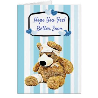 Cartes Un meilleur bleu d'ours de nounours de sensation