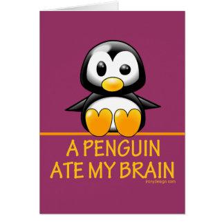 Cartes Un pingouin a mangé mon cerveau
