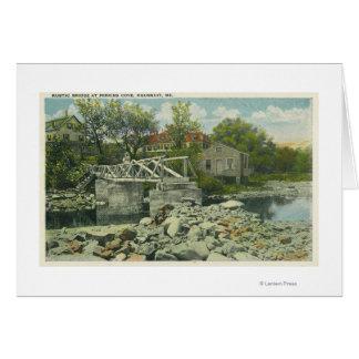 Cartes Un pont rustique à la scène de crique de Perkins