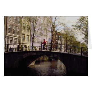 Cartes Un ponts d'Amsterdam de presque 1.300 croisant I