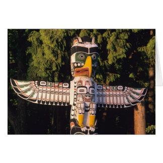 Cartes Un poteau de totem à Vancouver, Canada