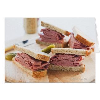 Cartes Un sandwich savoureux