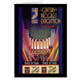 Cartes Un siècle de l'exposition Chicago 1933 de progrès