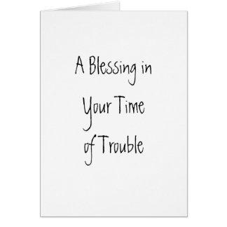 Cartes Un temps d'inYour de bénédiction de problème