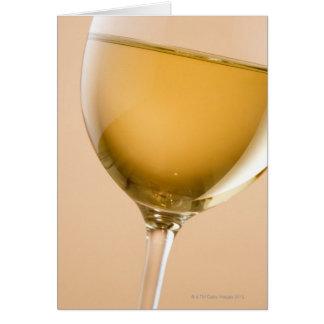 Cartes Un verre de vin blanc