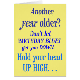 Cartes Une autre année plus vieux ? Aucuns bleus