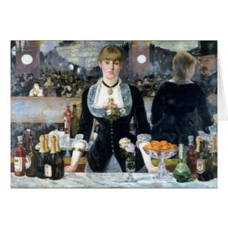 Cartes Une barre chez le Folies Bergère, Édouard Manet