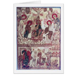Cartes Une clinique, Traité bizantin, XIVème siècle