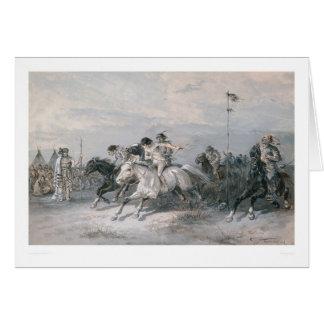 Cartes Une course de cheval dans un camp indien de Sioux