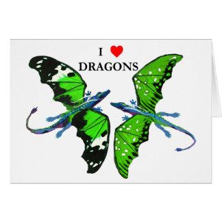 Cartes une paire de dragons