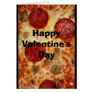 Cartes Une pizza mon coeur appartient à vous Valentine