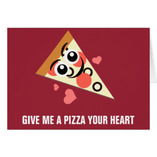 Cartes Une pizza votre coeur