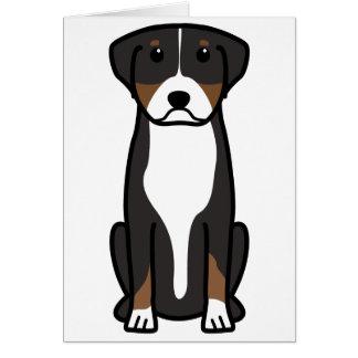 Cartes Une plus grande bande dessinée suisse de chien de