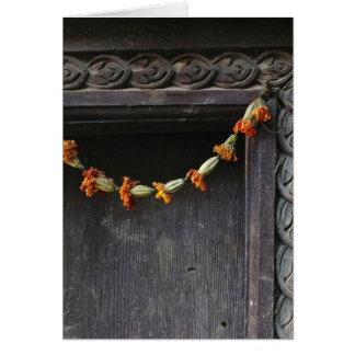 Cartes Une porte à Katmandou