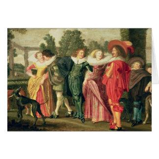 Cartes Une promenade dans le jardin, c.1623