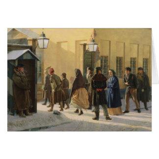 Cartes Une scène de rue, en dehors d'une prison, 1868