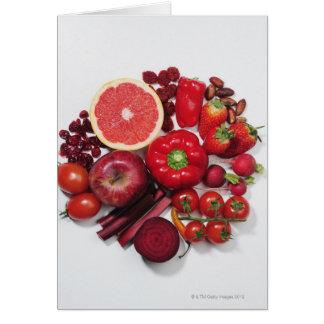 Cartes Une sélection des fruits et des légumes rouges