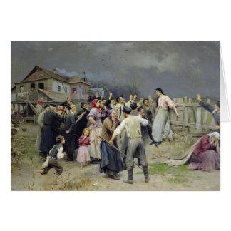 Cartes Une victime du fanatisme, 1899