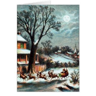 Cartes Une visite de Noël de cru de Nicholas de saint