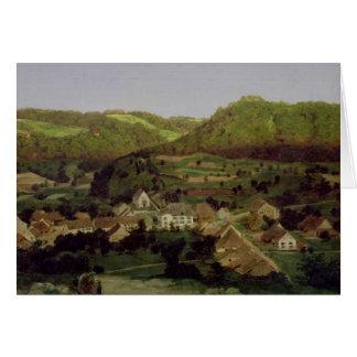 Cartes Une vue du village de Tenniken, 1846
