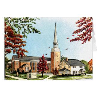 Cartes Université d'Albion en automne, chapelle de