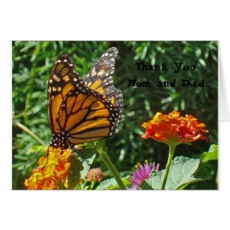 Cartes Université de papillon de monarque de maman et de