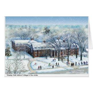 Cartes Université de Wesley Hall Albion, note polychrome