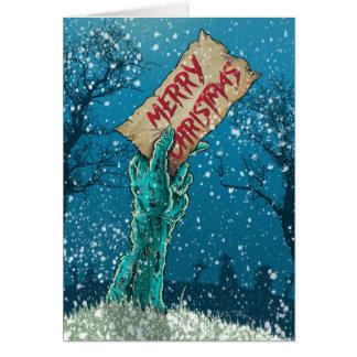 Cartes Vacances de Joyeux Noël de zombi