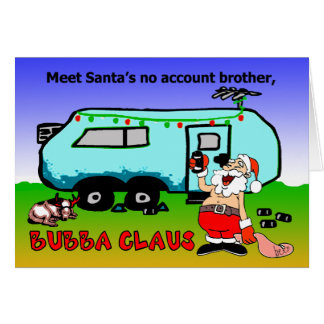 Cartes Vacances de Noël de Bubba Claus