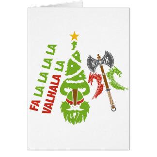 Cartes Vacances de Noël de Viking le Valhöll