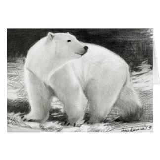 Cartes Vacances d'ours blanc personnalisables