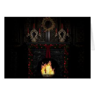 Cartes Vacances gothiques - cheminée
