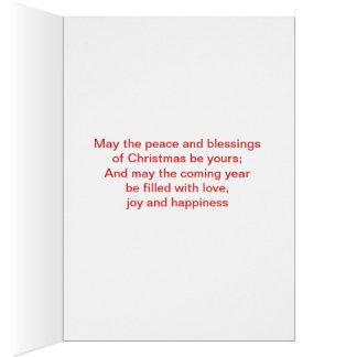 Cartes Vacances heureuses Chirstmas avec l'arbre simple