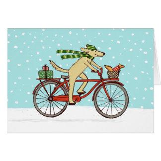 Cartes Vacances heureuses de recyclage d'amis de chien et
