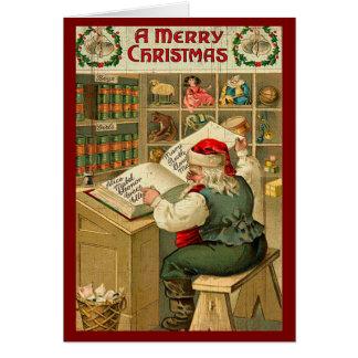 Cartes Vacances vintages de Joyeux Noël de pays de Père