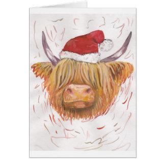 Cartes vache des montagnes à roucoulement de Noël avec le