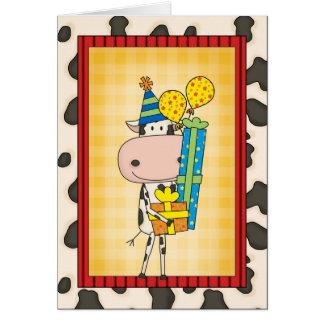 Cartes Vache rimante idiote à anniversaire occidentale