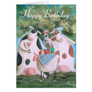 Cartes Vaches à joyeux anniversaire