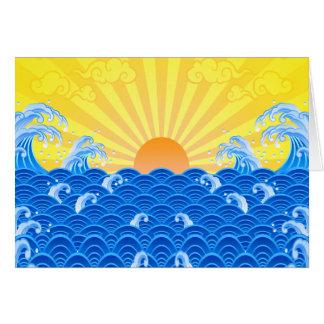 Cartes Vagues d'été de Sun d'été