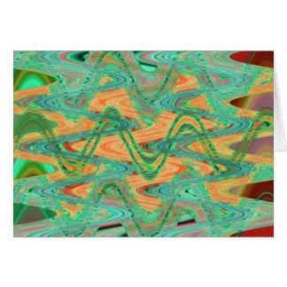 Cartes vagues vertes d'orange