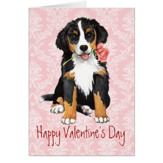 Cartes Valentine Berner rose