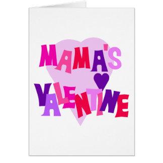 Cartes Valentine de couleurs de coeur de maman chaude