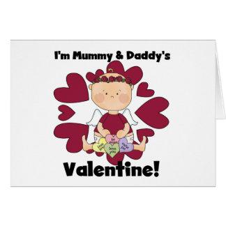 Cartes Valentine de maman et de papa - cupidon de fille