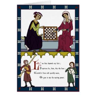 """Cartes Valentine des amants d'échecs (édition de """"brun"""")"""