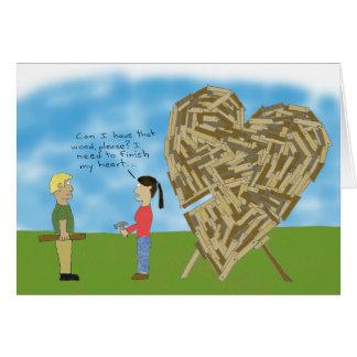 Cartes Valentine en bois - masquez l'intérieur (la