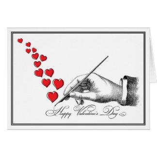 Cartes Valentine manuscrit