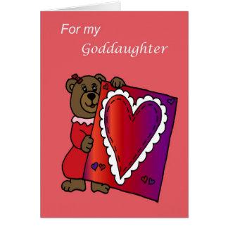 Cartes Valentine pour la filleule