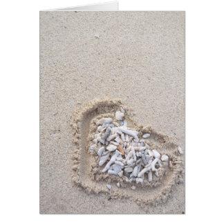 Cartes Valentine pour la plage
